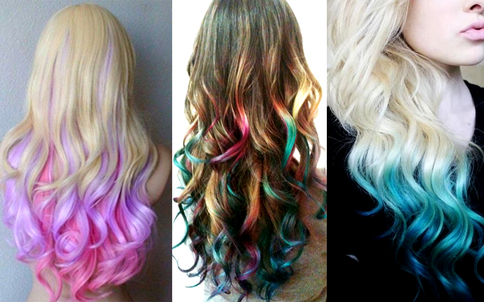 ombre hair colorida