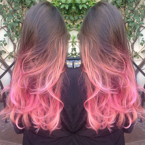 ombre hair rosa