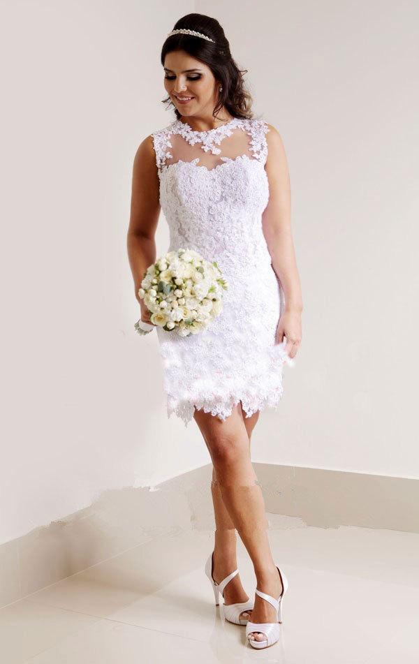 Vestido De Noiva Curto 32 Fotos Para Voc 234 Se Inspirar
