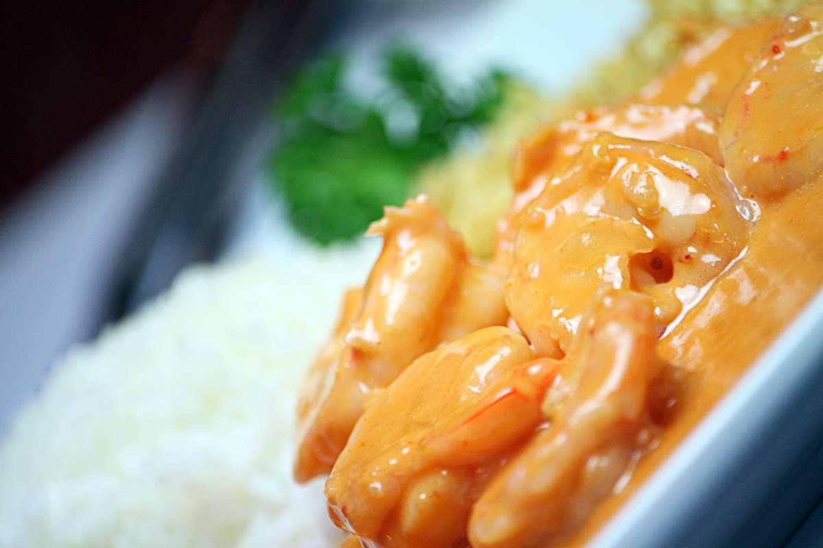 strogonoff de camarão